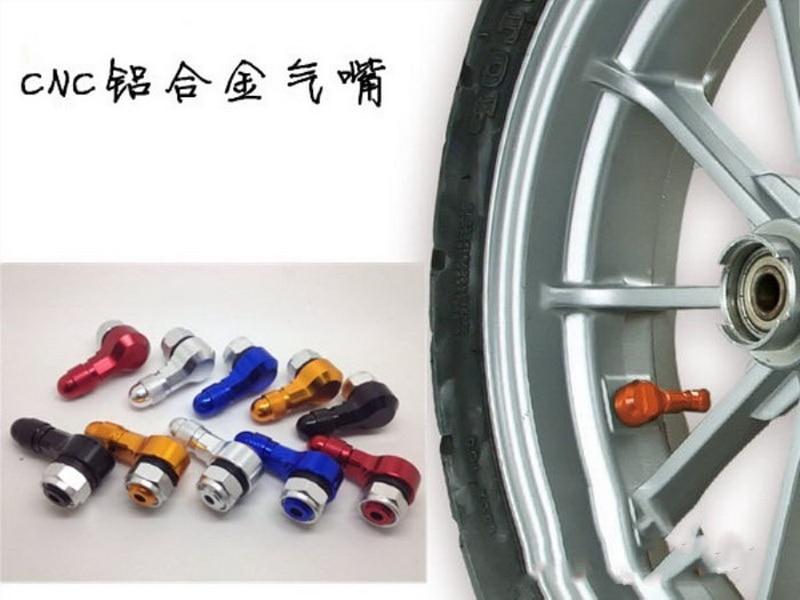 По DHL или FedEx 100 шт. 90 градусов CNC клапан мотоцикла стебли обода шины колеса Алюминий Серебро Черный Синий золотой оранжевый
