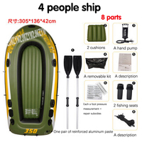 1 PC 4 person kayak thick rubber boats inflatable boat fishing boat kayak assault hovercraft boats Bearing quality 340 420kg