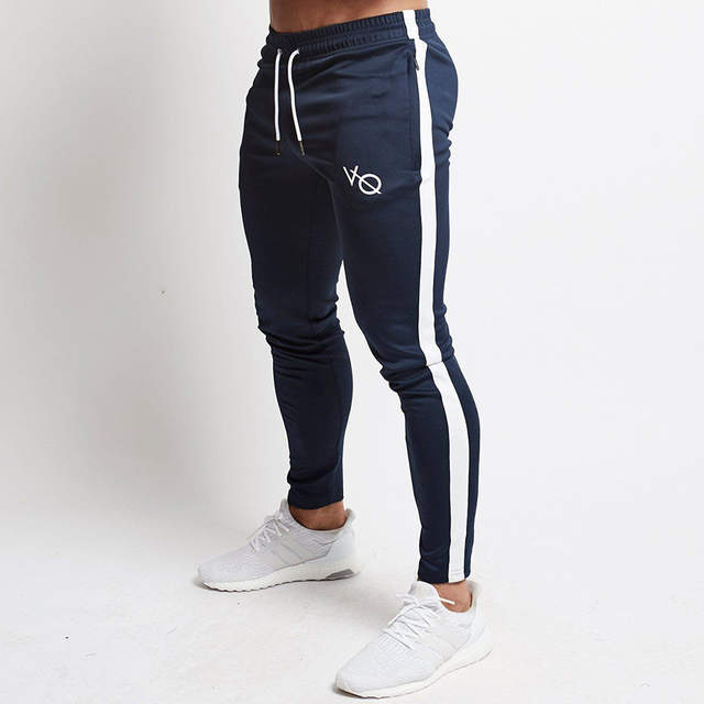 94a7248a Red Jogging Pants Men Striped Sport Sweatpants Running Pants GYM Pants Men  Cotton Trackpants Fitness Jogger Bodybuilding Trouser-in Running Pants from  ...