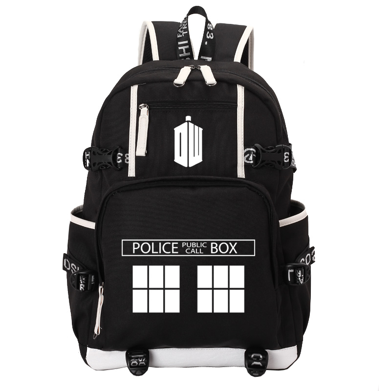 Doctor Who school bag noctilucous backpack student school bag Notebook backpack Leisure Daily backpack