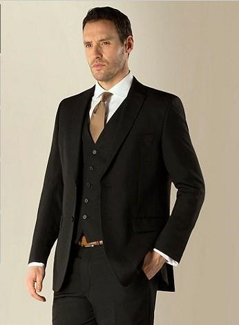 Top Ing Prom Black Charcoal Men S Suits Wedding Suit Male Formal Dress For Groom Tuxedos Jacket Pants Vest Tie In From Clothing