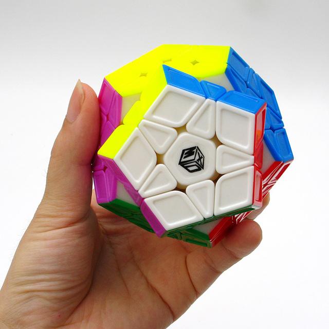 Lo nuevo Qiyi X-man Galaxy Megaminx Escultura/Convexo/Cóncavo/Avión Torcedura puzzle Cubo Mágico Cubo de la Velocidad Juguetes Educativos Juguetes