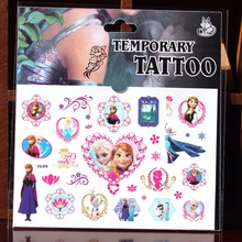 Ice Queen Snow Cartoon Barbie Girl Child Boy Temporary Body Art Flash Tattoo Stickers Waterproof Fake