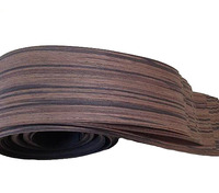 Length 2 5 Meters Thickness 0 25mm Width 12cm Natural Ebony Veneer Speaker Stickers Leather Hand