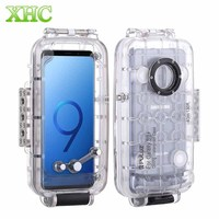 PULUZ 40m/130ft Waterproof Case Diving Housing Underwater Cover Case for Samsung Galaxy S9 S9 Plus