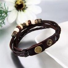 2Pcs / lot Lovers Bracelet Charm  Love Leather Bracelet Punk Cheap Couple Jewelry For Men and Women