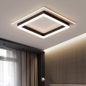 Modern ceiling lights for hallway balcony corridor Coffe white light lamps bedroom luminaria teto acrylic lamparas de teco(China)