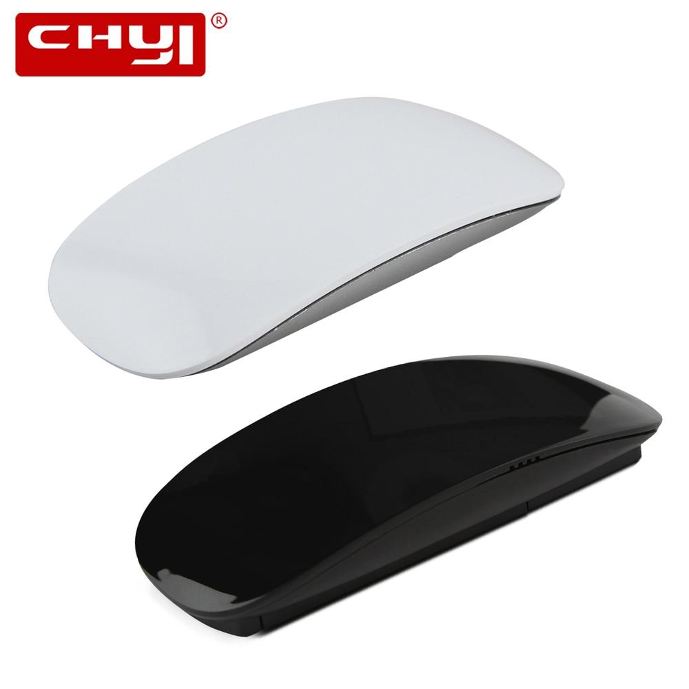 CHYI Wireless Ultrathin Touch Mouse 2.4Ghz 1600 DPI Silent Super Slim Optical Ergonomic Ultra-thin Magic Mice For Laptop Desktop