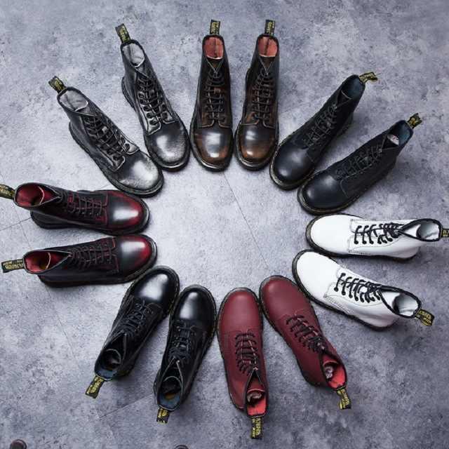 Martens/мужские ботинки наивысшего качества, брендовые зимние ботинки, зимние ботинки, Теплые ботильоны на меху, обувь Dr Martins, мотоциклетные ботинки, KH-W5