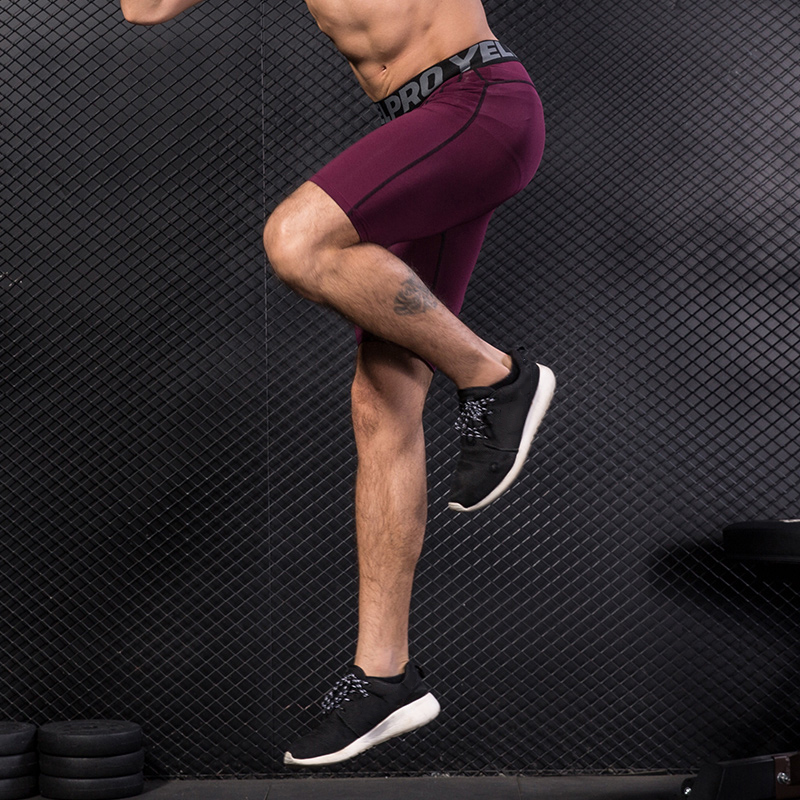 YEL-Quick-Dry-Compression-Shorts-Men-s-Bodybuilding-Fitness-Tight-Shorts-Sweat-Sport-Short-Trousers-Gym