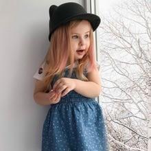 Children Caps Cat Ear Woolen Hat For Girls Panama Cap Kids Winter Hats цены
