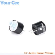 100 Uds 5V alarma de zumbador activa altavoz sonido electromagnético SOT altura 9,5mm