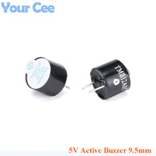 100 sztuk 5 V aktywny Buzzer alarmowy głośnik elektromagnetyczny SOT wysokość 9.5mm