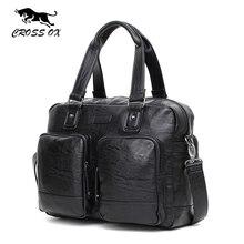 CROSS OX 2017 Spring New Design Men's Briefcase Satchel Bags For Men Business Fashion Messenger Bag 14′ Laptop Bag HB559M