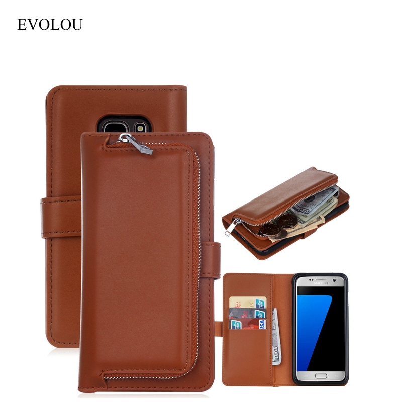 Multifunction Wallet Leather Case For Samsung Galaxy S7 G9300 S7 Edge G9350 Flip Cover Phone Bag