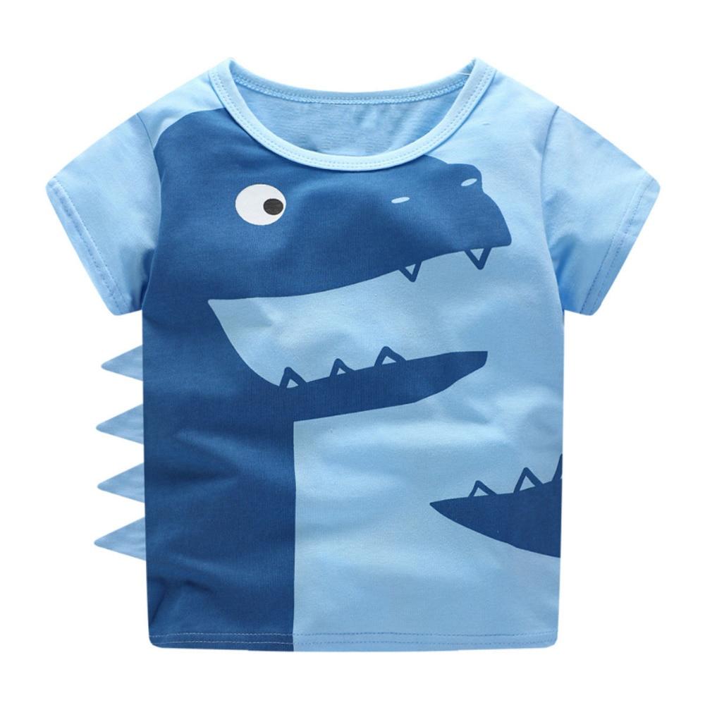 Αγόρι T Shirt Μωρό Καλοκαιρινά Ρούχα 2018 Littlemandy Δεινόσαυρος ... 02d20a759da