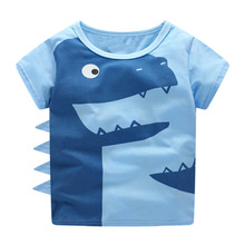 Pakaian Bayi Laki-laki T Shirt Bayi Musim Panas 2018 Littlemandy Dinosaurus Hewan Anak-anak Pakaian Anak Lengan Pendek T-shirt tshirt