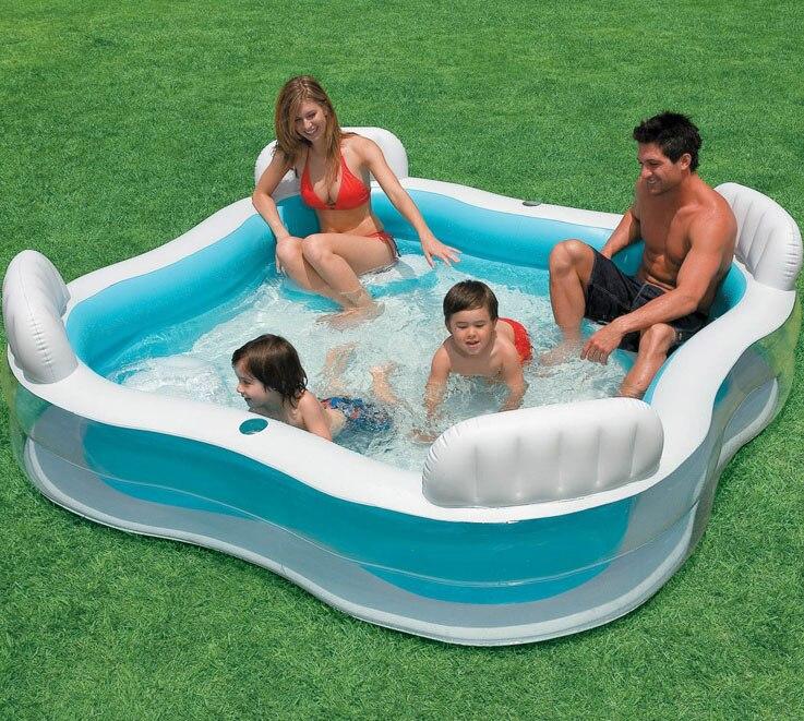INTEX siège arrière pataugeoire surdimensionné famille piscine piscine piscina zwembad colchonetas inflables piscina pi