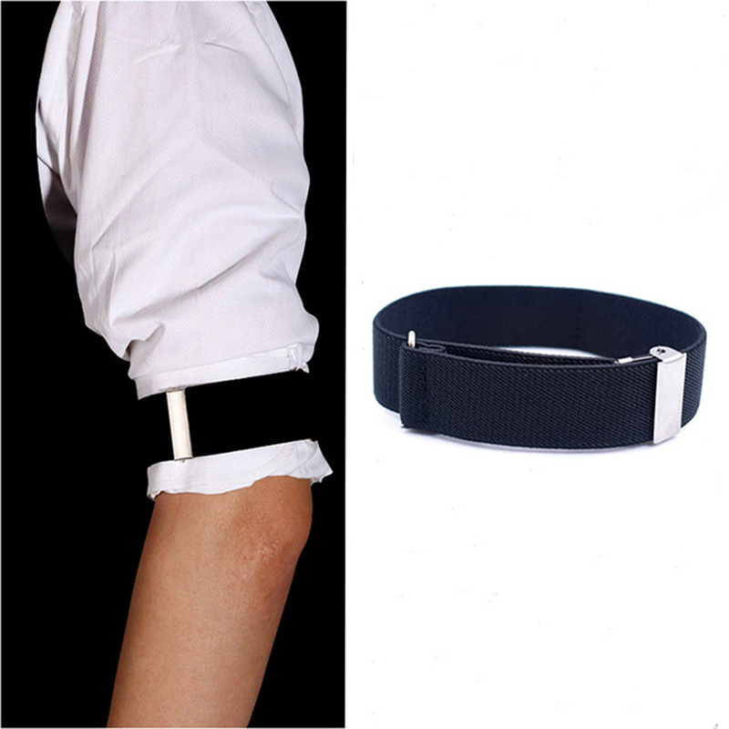 Fashion Elastic Gentleman Formal Shirt Armband Sleeve Garter Holder Business Party Cuff Gift Clothes Accessories