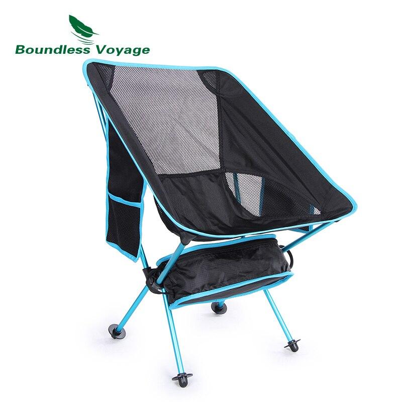 Bezgraniczna Voyage na świeżym powietrzu krzesła wędkarskie z Carry torba Camping piknik na plaży grill przenośny składane krzesło księżyc za pośrednictwem boczna kieszeń w Krzesełka wędkarskie od Sport i rozrywka na AliExpress - 11.11_Double 11Singles' Day 1