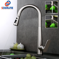 SOGNARE 3 Function Pull Out Kitchen Faucet Sink Mixer All Around Rotate Swivel Dual Sprayer Nozzle