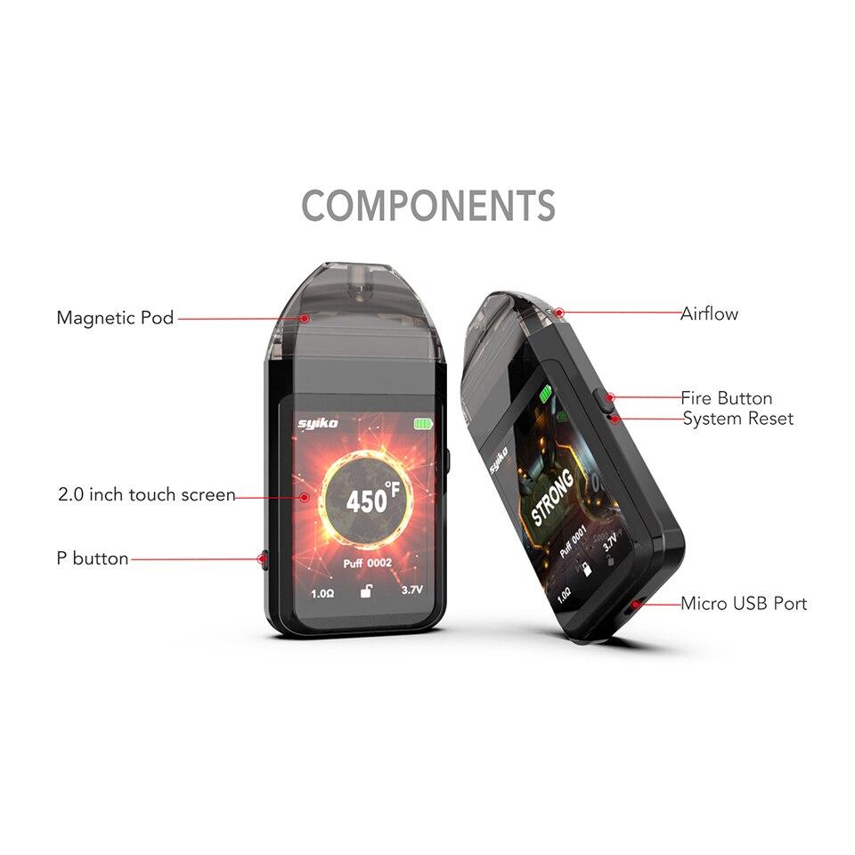 Updated Newest Portable Syiko SE Touch Pod kit 650mAh Built-in Battery Vape Electronic Cigarette 2ml Pod Vape kit VS Aspire AVP (5)