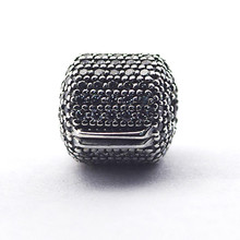 Beads for Jewelry Making Charms Silver 925 Original Pave Barrel Clip Charm Sterling kralen diy Bracelets Wholesale