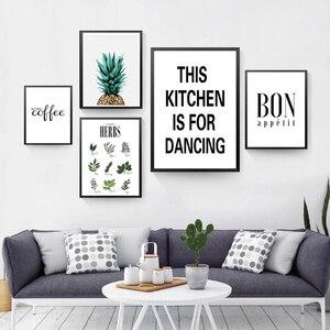 Image 2 - Cuadro sobre lienzo para pared con hierbas botánicas, cartel nórdico, letras blancas y negras, citas, decoraciones de pared, fotos sin marco