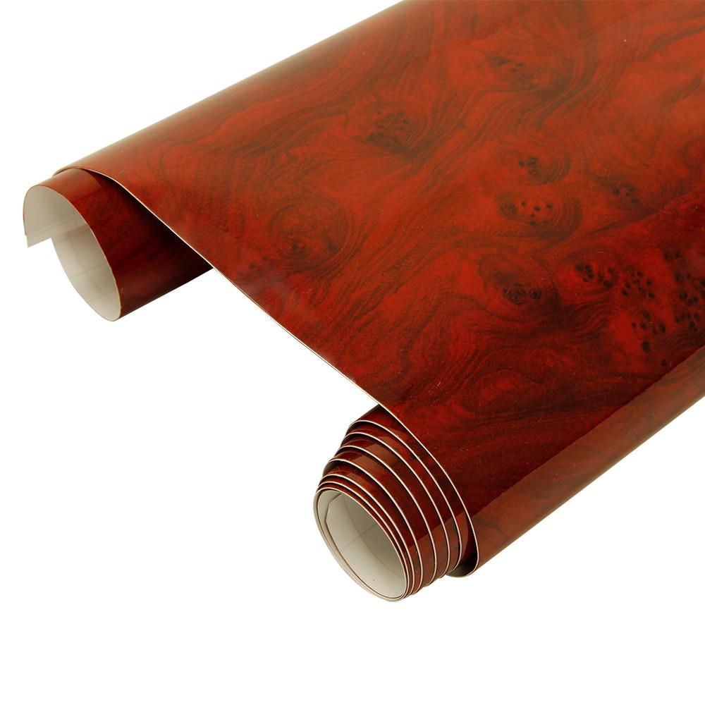 HOHOFILM 124 cm * 100 cm haute brillance bois Grain vinyle voiture autocollant interne meubles autocollant texturé vinyle Wrap autocollant