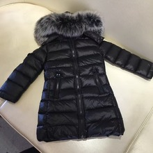 Girls Winter Coat Shaped Quilted Single Breasted Trench Coat School Jacket Junior Girl Winter Parka Children Brand Outerwear