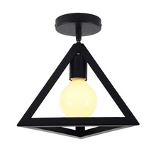 Brand New Metal Cage Ceiling Lamp Black LED Mini 1 Modern Interior 220V