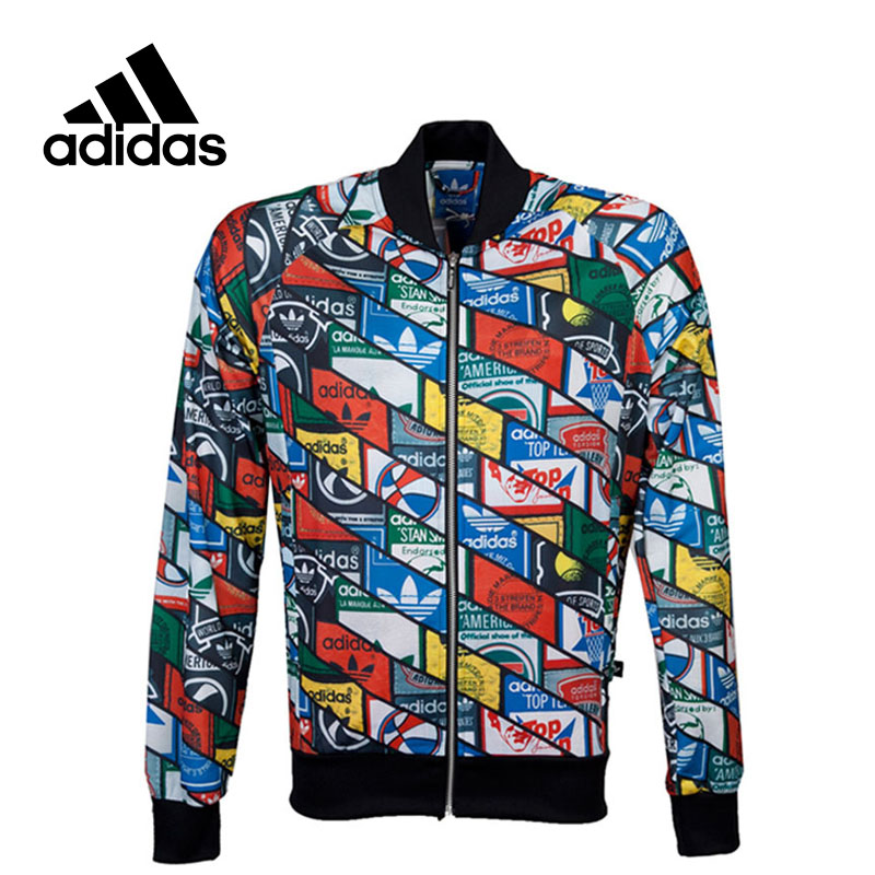 New Arrival Official Adidas Men's Originals Tongue Labels Superstar Track Jacket Breathable Sportswear adidas x pharrell little kids superstar supercolor