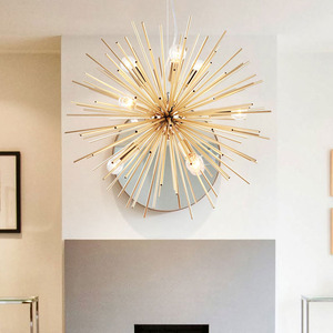 Image 2 - Lampade a sospensione nordiche soggiorno antico lampade a mano oro artistico illuminazione a LED Luminaria industriale decorazione domestica moderna
