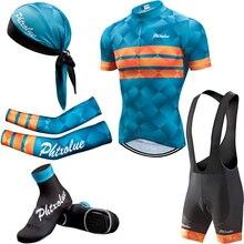 Phtxolue летний комплект для велоспорта, Мужская одежда для велоспорта, комплекты с короткими рукавами для велоспорта