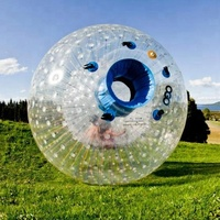 2.5M Dia Inflatable Zorb Ball Human size Hamster Ball For People Inside Cheap Inflatable Zorbing Price Popular PVC Glass Ball