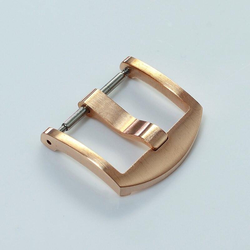 Haute qualité bracelet de montre fermoir 20mm Bronze cuir bracelets de montre sangle boucle ardillon ceinture montre accessoires