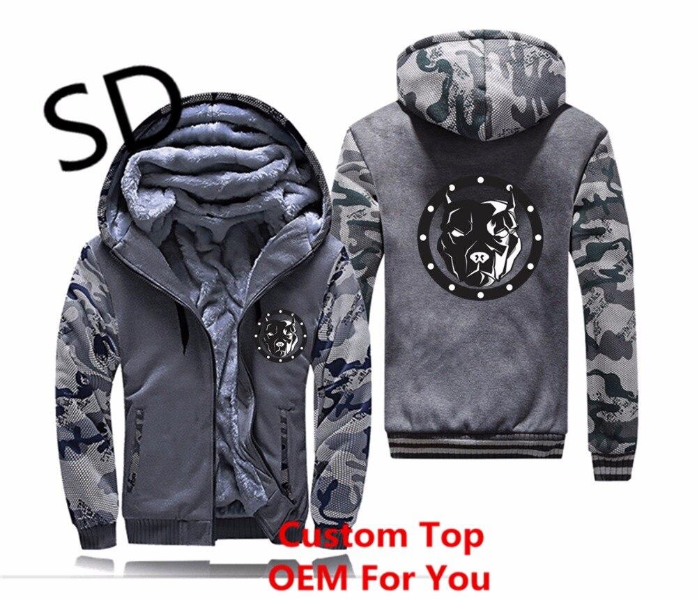 Gray Pitbull Sweat 3d Hoodies navy Américain D'hiver Blue Sweats Hommes Épaississent Zipper dark Dropshipping Veste Vêtements Gray Manteau Camouflage IwAaqnBXq