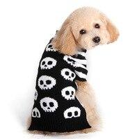 Nueva Otoño/Invierno Prendas de Punto Suéter Del Patrón Del Cráneo Pequeño Perro Mascotas Perros Gatos Ropa de Abrigo Caliente Tamaño XXS XS/S/M L
