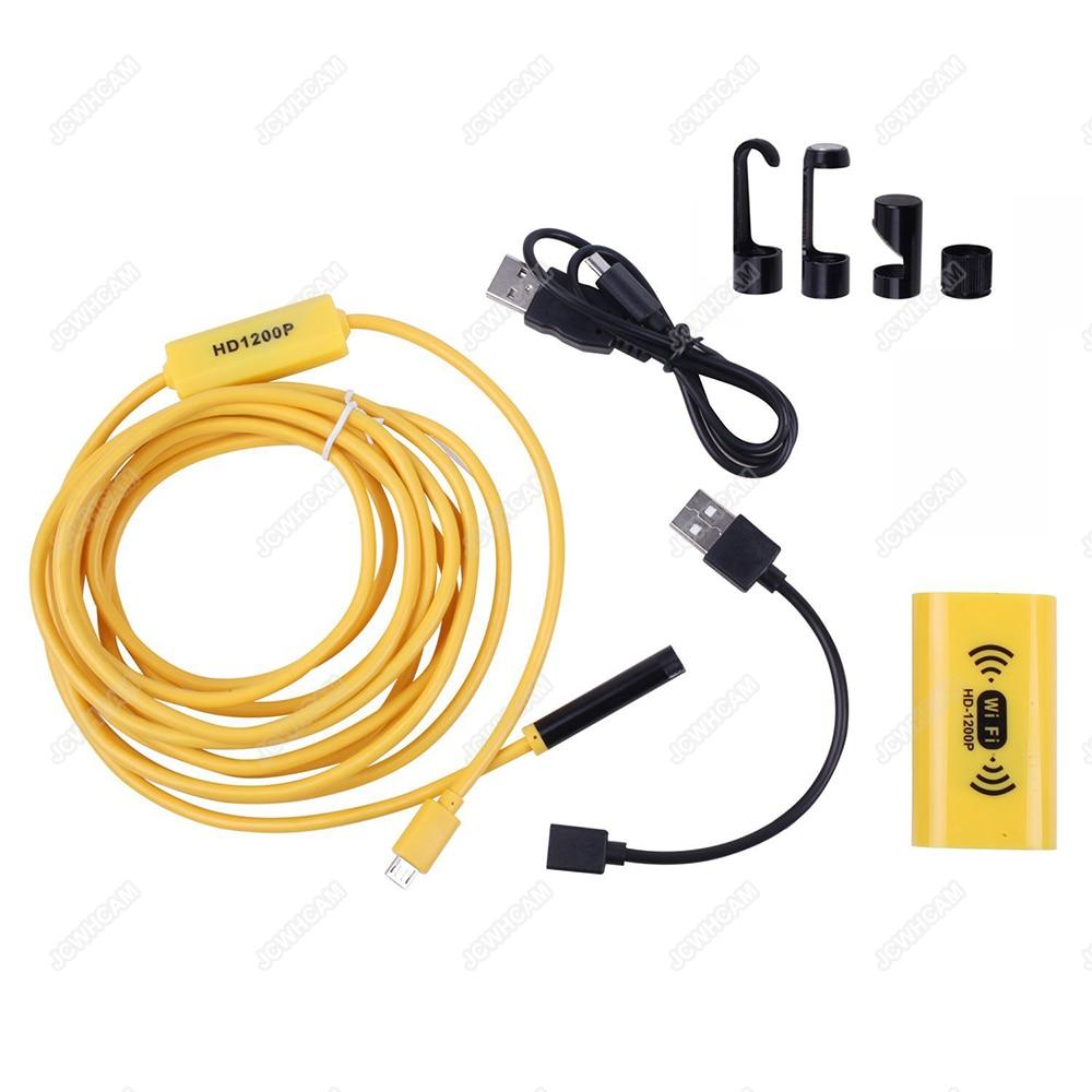 HD 1200P nastavitelná 8 LEDs WiFi endoskop kamera 8mm IP68 pevný - Videokamery a fotoaparáty - Fotografie 5