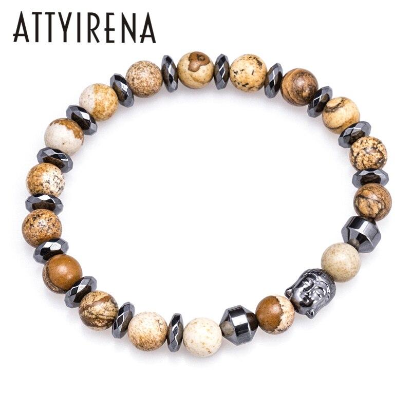 Wholesale Natural Stone beads Bracelets for Women Men Hematite Buddha Bracelet Men Beads Bracelets Jewelry Gift Bangles