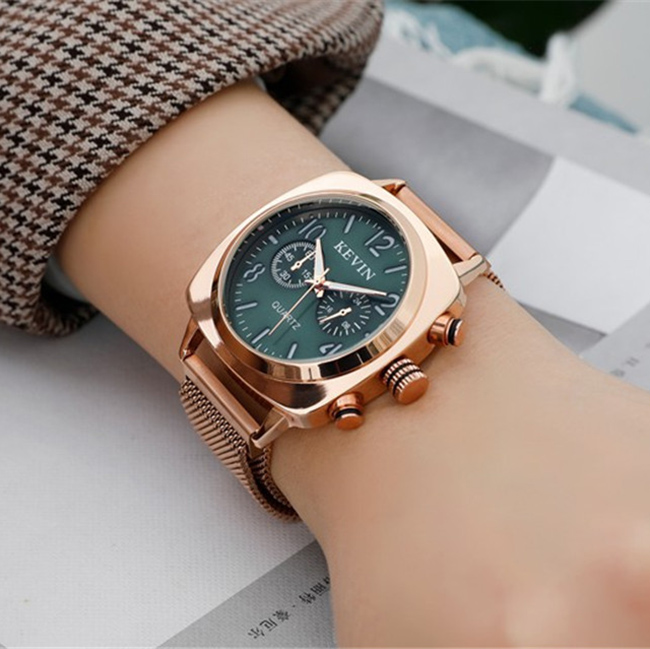 Square Women Watch Magnetic Stainless Steel Rose Gold Waterproof Ladies Wrist Watch For Montre Femme 2019 Relogio Feminino Gift 2