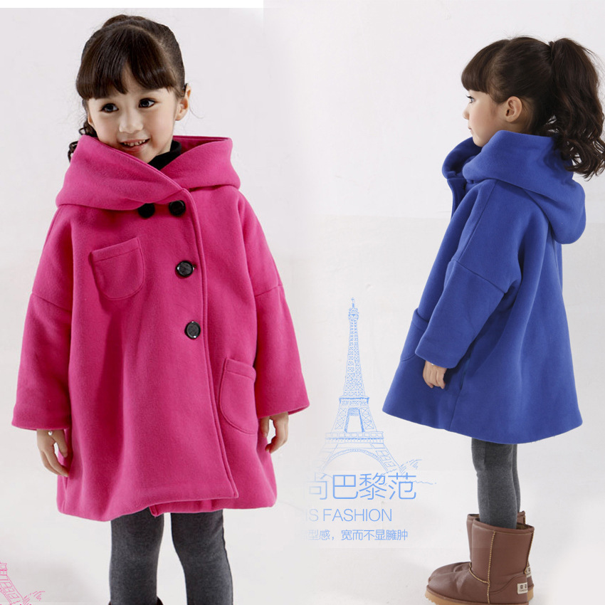 Online Shop New arrival girls wool winter coats children clothing ...