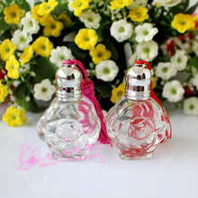10 мл, прозрачный стеклянный розовое ролик на флакон духов пустая упаковочная бутылка 5 шт./лот