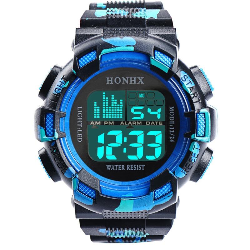 Men Camouflage Sports Wrist Watches Fashion Mens Digital LED Waterproof Analog Quartz Alarm Date Sports Wrist Watch Men's Clock