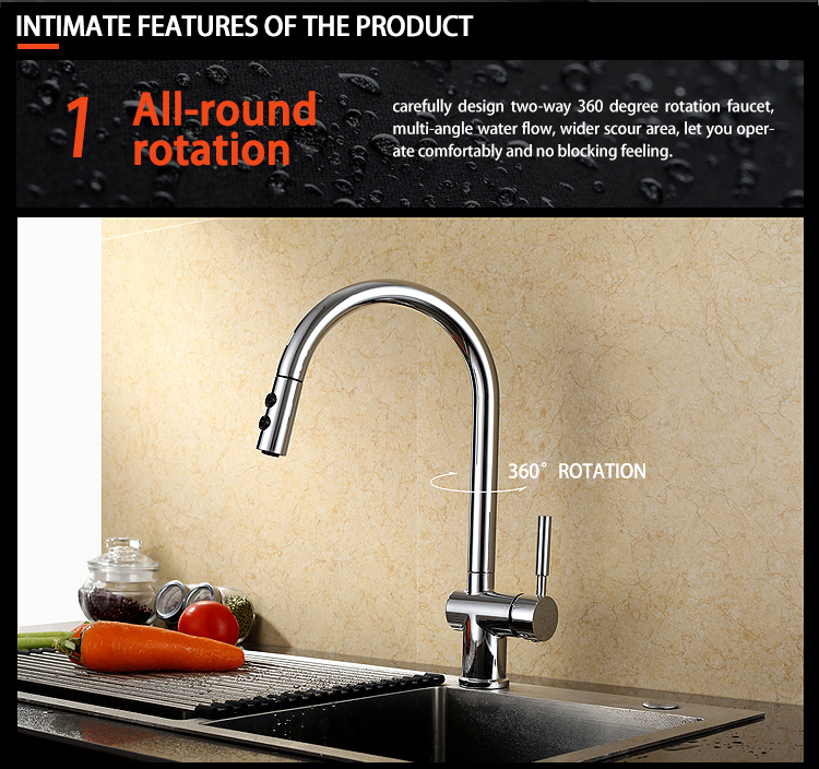 OLMEY 2-Functions Commercial Kitchen Faucet with Pull Down Sprayer, Single Lever Single Hole Sink Taps Kitchen Mixer 35OLMEY 2-Functions Commercial Kitchen Faucet with Pull Down Sprayer, Single Lever Single Hole Sink Taps Kitchen Mixer 35