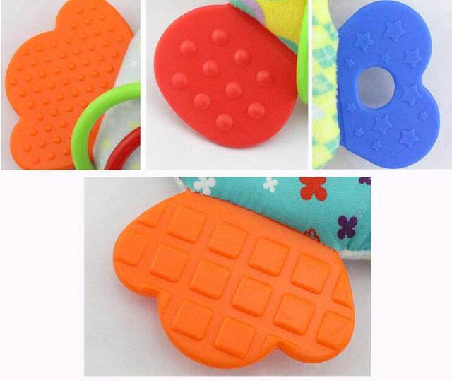 Baby Infant Cartoon Animal Giraffe Fish Handle Rattles Soft Plush Safety Teether Toys Teeth Care Doll For Kid 20%OFF 5