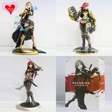 Amor Gracias LOL El Piltover Enforcer Vi Hoja Siniestra Katarina La Arquera de Ceniza DEL Anime Del PVC figura Modelo de juguete de regalo nueva