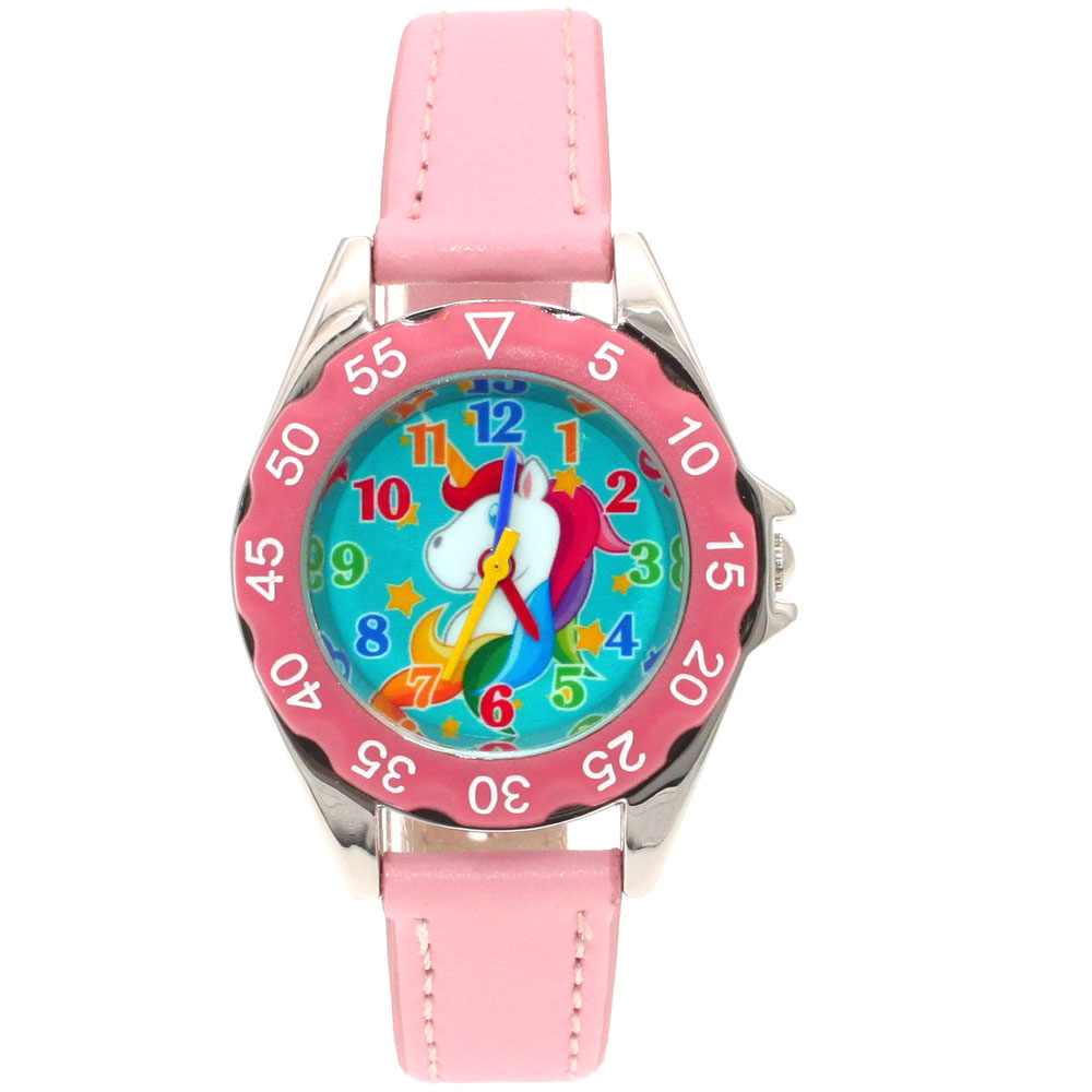 Cute Unicorn Ladies Watch For Kids Girls Boy Leather Wristwatch Casual Dress Fashion Children Learn Time Watch U85b Kidswatch A Wide Selection Of Colours And Designs Children's Watches