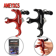 1pc Archery 3 Finger Releases Automatic Compound Bow Release Aid Thumb Grip Trigger Caliper For Hunting Shooting Accessories