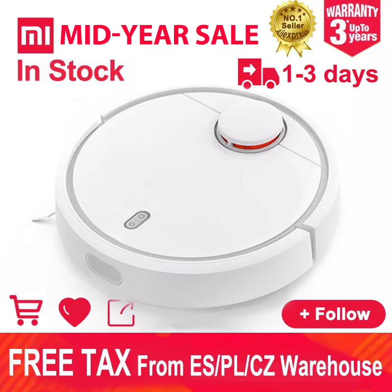 EU Version Xiaomi Robot Vacuum Cleaner Smart Plan Type Robotic With Wifi App And Auto Charge For Home(China)